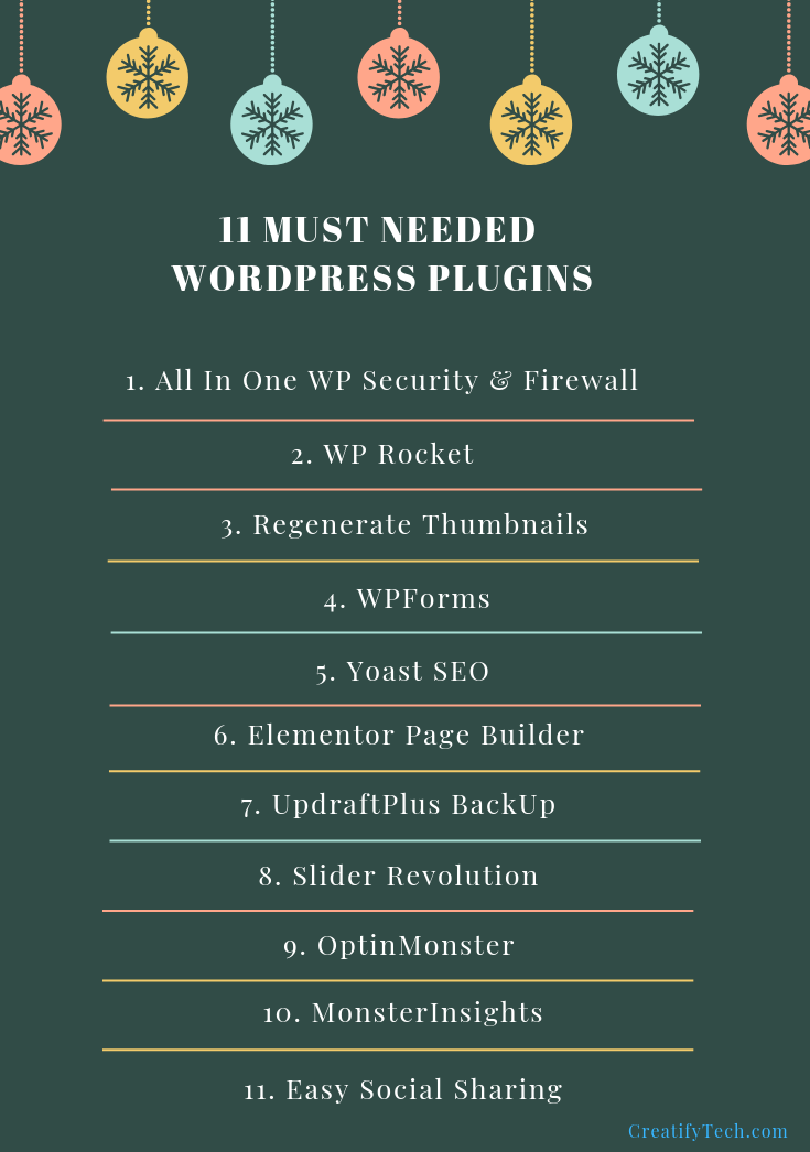 11 Must Needed WordPress Plugins